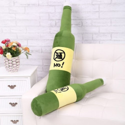 70cm Grön Plysch Ölflaska Kudde Creative Gåvor
