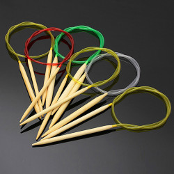 80cm 18stk Mehrfarbenrohrrund Crochet Stricknadeln aus Bambus