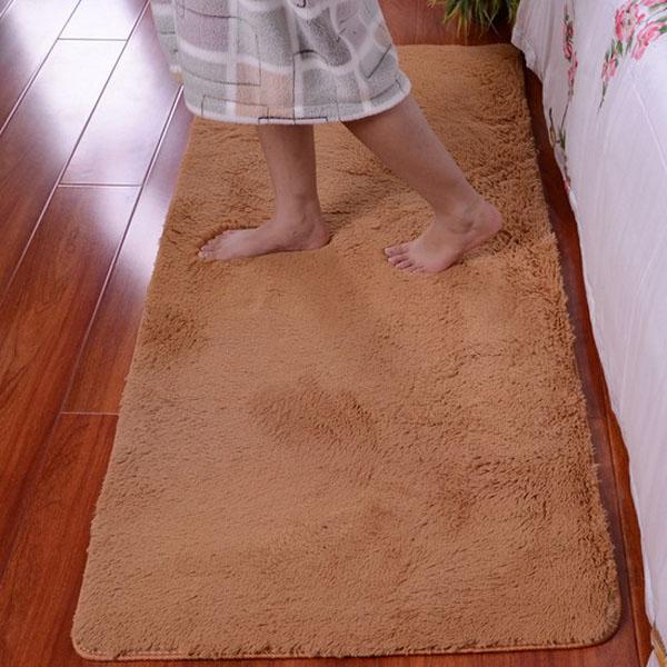 80x150cm Velours wasserdichte Bodenmatte Fußmatte Bed Side Mat Heimtextilien