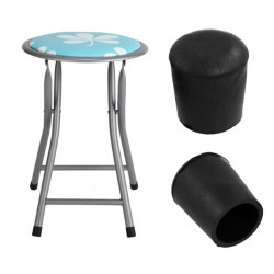 Black Rubber Desk Chair Foot Cover Furniture Protector