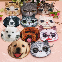 Cat Head Coin Bag Lady Purse Child Coins Phone Pouch