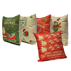 Christmas Pillow Case New Year Gift Cushion Cover Home Decor