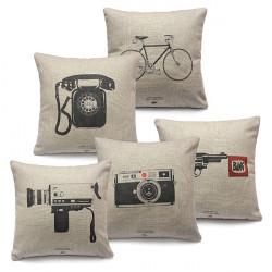 Classic Linen Cotton Pillow Case Throw Cushion Cover Sofa Decor