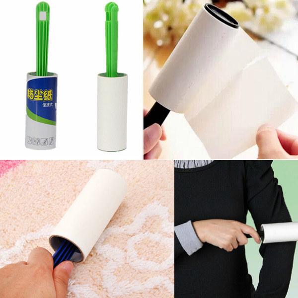 Tøj Hår Dust Rengøring Sticky Roller Paper 40 Sheets Hjem Tekstiler