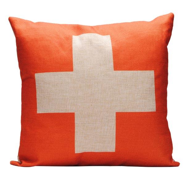 Bomull Linne Square Schweiz Sjunker Örngott Kuddfodral Hemtextil