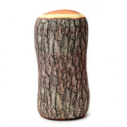 Creative Log Træ Form Pude Hjem Kontor Bil Komfortabel Pude