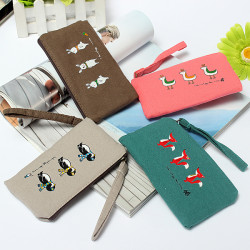 Cute Animals Canvas Coin Purse Wallet Bags Pouch Wallet Storage