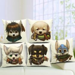 Cute Cartoon Dog Pillow Case Home Offcie Car Cushion Cover