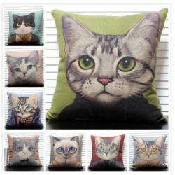 Nette Katzen Werfen Kopfkissenbezug Handmalerei Tierkissenbezug