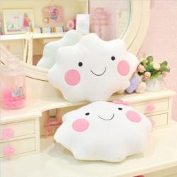 Cute Smile Bowknot Clouds Plush Pillow Cushion