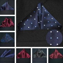 Dot Polyester Mænd Suit Pocket Square Banquet Bryllup Lommetørklæde Håndklæde