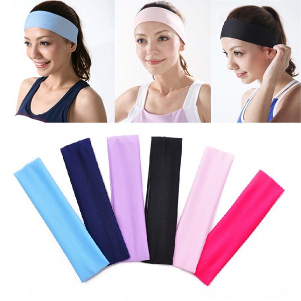 Elastische Damen Plain Stirnband Yoga Sport Gesicht waschen Snood 6 Farben Heimtextilien