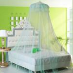 Elegante Spitze Hänge Bettwäsche Moskitonetz Dome Prinzessin Bett Überdachung Filetarbeit Heimtextilien