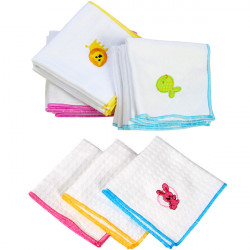 Embroidered Honeycomb Handkerchief Cotton Gauze Baby Face Towel