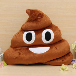 Funny Cotton Poo Shape Throw Pillow Home Office Car Cushion