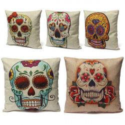 Lustig Skull Designs Kopfkissenbezug aus Baumwolle Bed Büro Auto Kissen