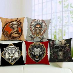 Gothic Cotton Linen Pillow Case Home Office Car Pillowcase