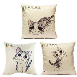 Leinen Cartoon Katze Werfen Kopfkissenbezug Car Kissenbezug Dekorative