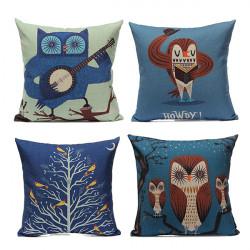Linen Retro Animal Pillow Case Home Soft Decor Cushion Cover