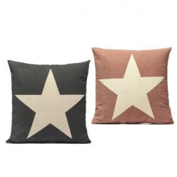 Leinen Sterne Wurfkissenbezug Car Kissenbezug Sofa Dekorative