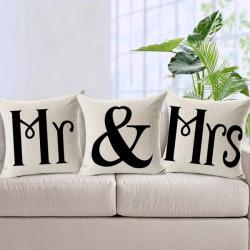 Liebhaber Mrs & Mr Druckkopfkissenbezug Bett, Sofa, Autowäsche Kopfkissenbezug
