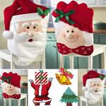 Herr und Frau Weihnachtsmann Weihnachts Stuhl Abdeckung Garden Home Decoration Heimtextilien