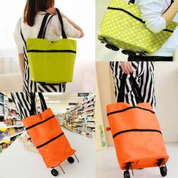 Multi Colour gefaltete Einkaufstasche mit Riemenscheibe tragbare Gepäcktaschen