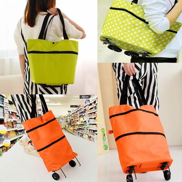 Multi Colour gefaltete Einkaufstasche mit Riemenscheibe tragbare Gepäcktaschen Heimtextilien