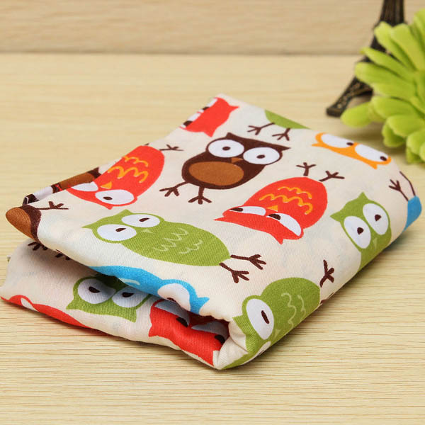 Owl Pattern Cotton Craft Fabric Textile Sewing Doll Cloth Home Textiles