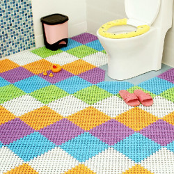 PVC Candy Color Anti-slip Mats Splice Bathroom Waterproof Non-slip