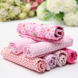 Rosa Series 7 Verschiedene Charm Baumwolle Stoffdruck Viertel Quilt Stoff