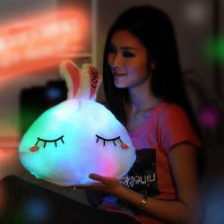 Plüsch bunten LED Licht Liebes Kaninchen Dekokissen