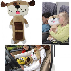Plush Puppy Dolls Car Safety Kids Seat Belt Pad Cover Cushion