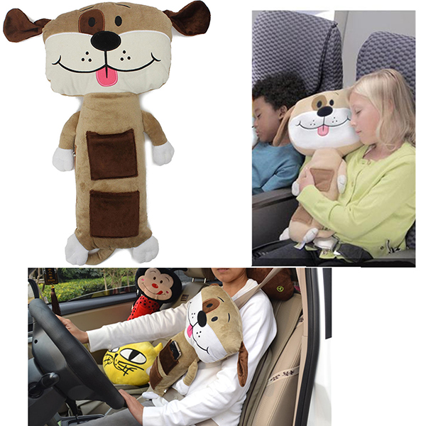 Plush Puppy Dolls Car Safety Kids Seat Belt Pad Cover Cushion Home Textiles