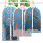 Printing Dot Transparent Clothing Dustproof Cover 2 Colors Home Textiles