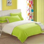 Pure Color Polyesterfaser reagierendes Drucken 4 Stück Bettwäsche Set Heimtextilien
