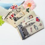 Retro Style Dame Taske PU Læder Pung Fashion Clutch Wallet Hjem Tekstiler