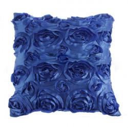 Satin 3D Rose Blomster Square Kuddfodral Kuddfodral