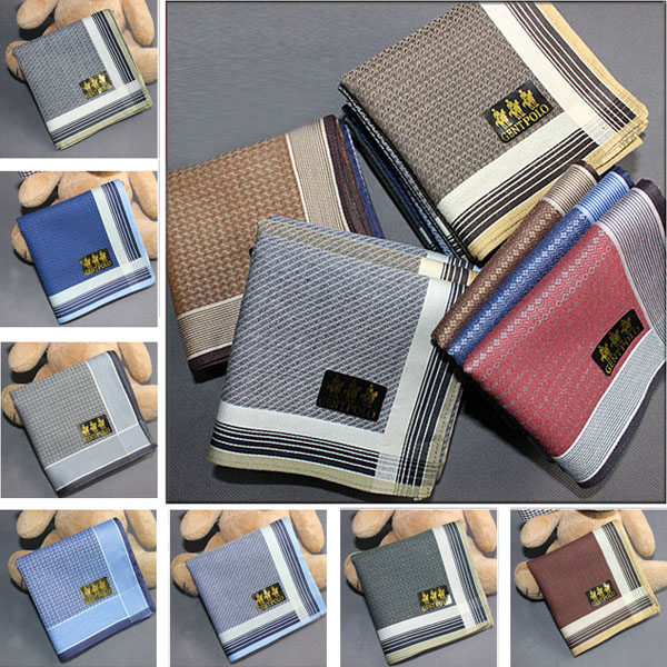 Weicher Baumwolle und modernes Design auf Männer Frauen Taschentuch Taschen Hanky Heimtextilien