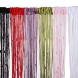 Tassel String Gardin Myggnät Divider Room 3 Pärlor Dekoration