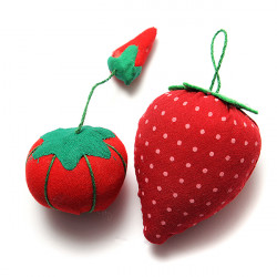 Tomato Strawberry Pin Cushion Sewing Needles Holder Kit Craft