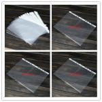 100st Transparent Plast A4 Papper Folder Punched Filing Sleeve Kontorsmaterial