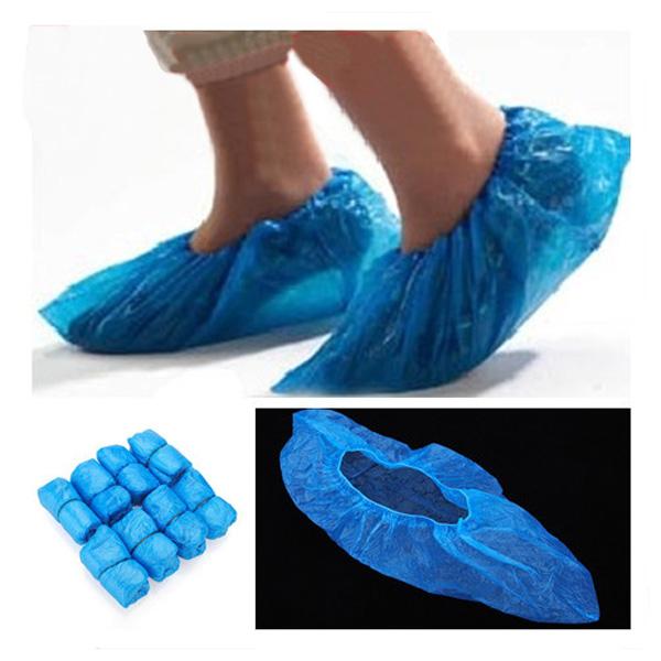 100x Disponibel Plast Tjock Matta Cleaning Shoe Cover Hushållsredskap