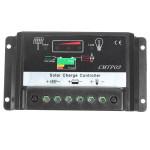 10A Solpanel Batteriregulator Charge Controller CE 12V / 24V Smarta Hem