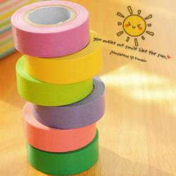 10stk Dekorative Rainbow Sticky Paper Masking Klæbebånd Scrapbog