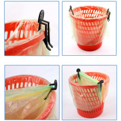 10pcs Garbage Can Waste Bin Trash Can Bag Clip Holder