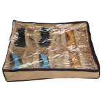 12 Pairs Tidy Under Bed Fabric Shoe Storage Organizer Box Closet Bag Housekeeping