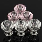 12stk Akryl Crystal Clear Dør Skuffe Knopper Handle Husholdningsartikler