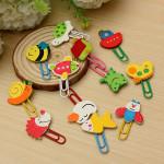 12Pcs Cute Cartoon Animal Paper Clip School Supplies Stationery Stationery
