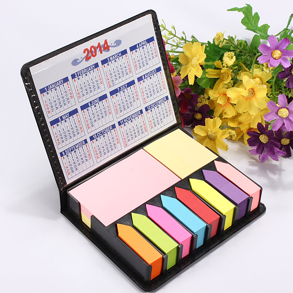 2000 Sider Luxury Memo Set Notes Sticky Notes Box 2013/2014 Kalender Kontorartikler